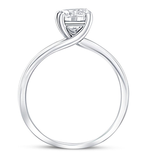 1 Ct Diamond Solitaire Engagement Ring 14k White Gold