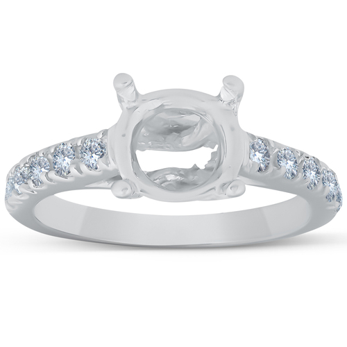 Diamond Semi Mount 14k White Gold Engagement Setting (G/H, I2)