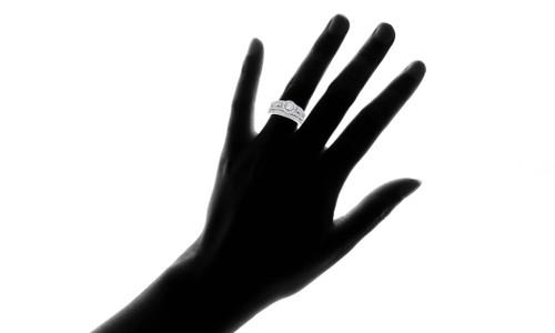 1 Carat Vintage Halo Diamond Engagement Wedding Ring Set 14K White Gold (G-H, I1)