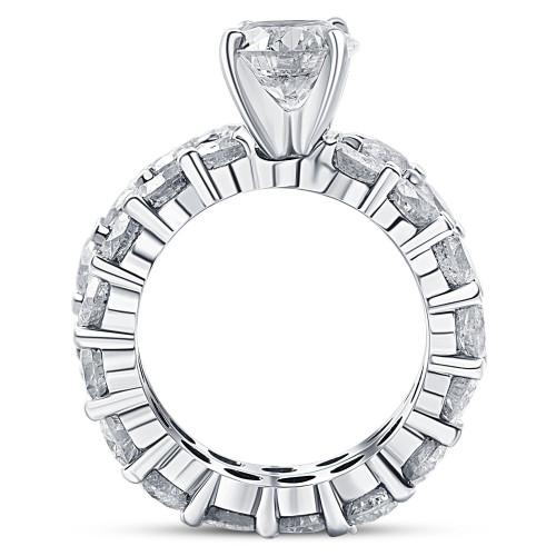 9 1/2ct Diamond Eternity Engagement Ring Wedding Set 14k White Gold