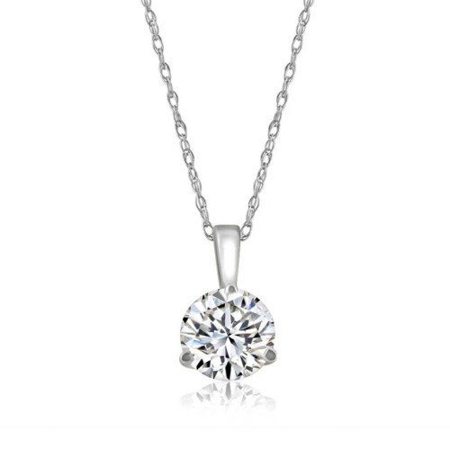 1/5 ct Solitaire Lab Grown Diamond Pendant available in 14K and Platinum (((G-H)), VS/SI)