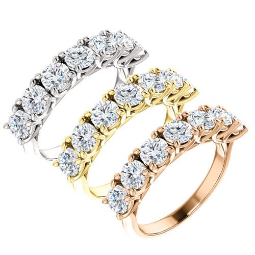 1 1/2ct Diamond Wedding Ring Vintage Womens Antique 10k White Yellow Rose Gold (I/J, I2-I3)