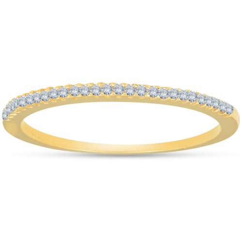 1/10ct Diamond Wedding Ring 14k Yellow Gold (I/J, I2-I3)