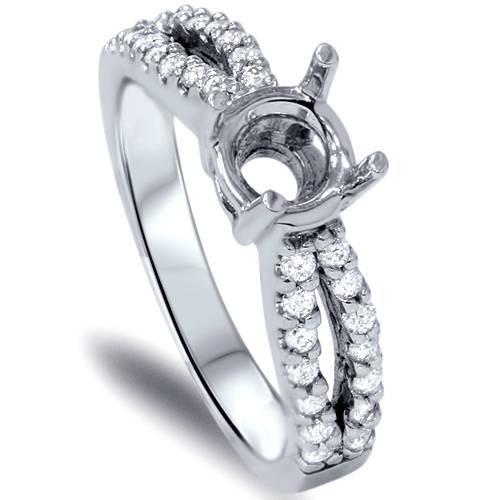 1/3ct VS 14k White Gold Diamond Engagement Semi Mount 7 (G/H, VS)