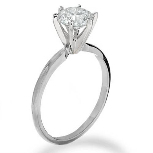 2 1/2ct Round Diamond Solitaire Engagement Ring 14K White Gold (H/I, I2)