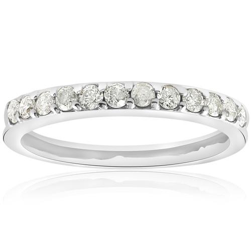 1/2ct Diamond Wedding Ring White Gold Anniversary (G/H, I1)