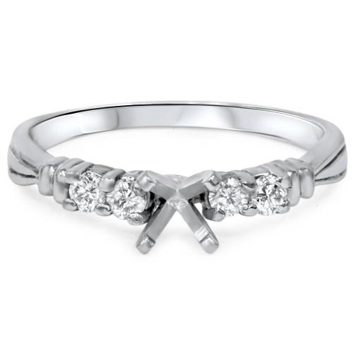 1/3ct Diamond Engagement Semi Mount Ring Setting 14K (G/H, I1)