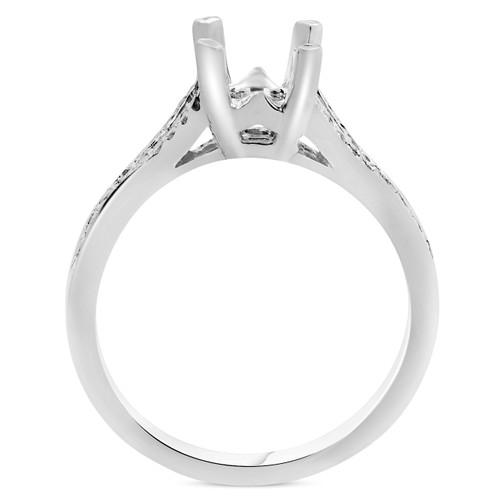 1/5ct Split Shank Diamond Mount Engagement Ring Setting (H, I2)