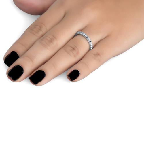 1/2ct Prong Diamond Wedding Ring 14K White Gold (G/H, I1-I2)