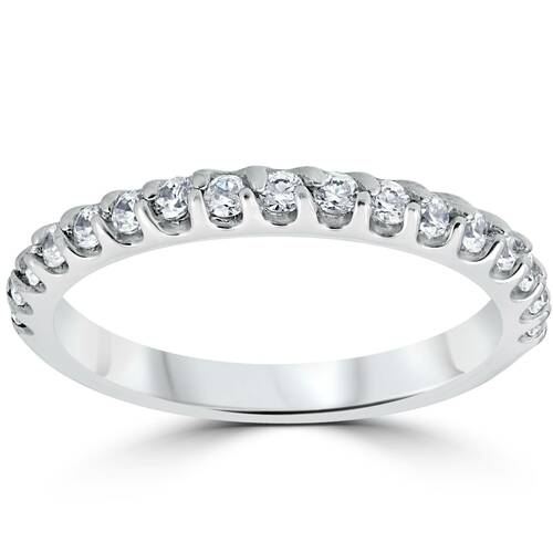 1/2ct Prong Diamond Wedding Ring 14K White Gold (G/H, I1-I2)