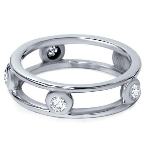 1/3ct Bezel Diamond Eternity Ring 14K White Gold (G/H, SI)