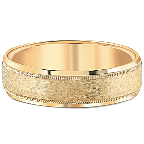 Mens 14K Gold Comfort Fit 6mm Wedding Ring New Band