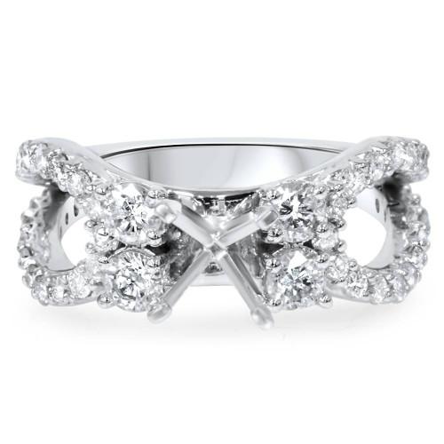 1 1/5Ct Diamond Engagement Ring Setting 14K White Gold (H/I, I1-I2)