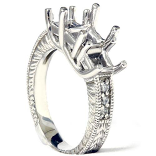 1/5ct Diamond Princess Cut Hand Engraved Mounting 14K (G, I1)