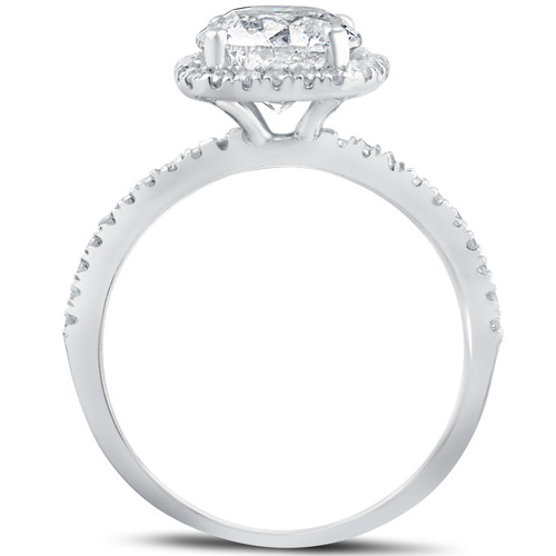 2 1 2 cttw Diamond Engagement Ring Cushion Halo Round Cut 14k White Gold  ((G-H) f91387cdf