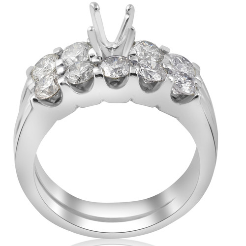 1 3/4ct Diamond Engagement Wedding Ring Setting Mounting U Prong Five Stone (G/H, I1)
