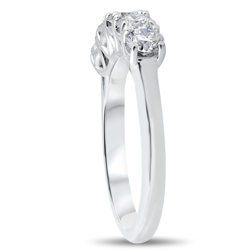 c7521feaef4d0 1 1/4 ct 5-Stone Diamond Trellis Anniversary Ring 14k White Gold (I/J,  I1-I2)