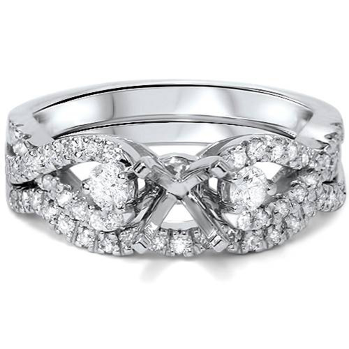 1/2ct Diamond Infinity Style Twist Engagement Setting Set 14K White Gold (G/H, SI1-SI2)