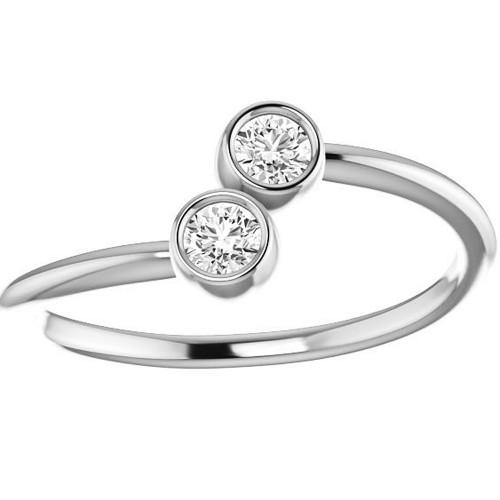 1/4ct 2-Stone Diamond Forever Us Engagement Ring (I/J, I2)