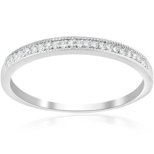 1/8ct Diamond Wedding Ring 10K White Gold (J-K-L, I2-I3)