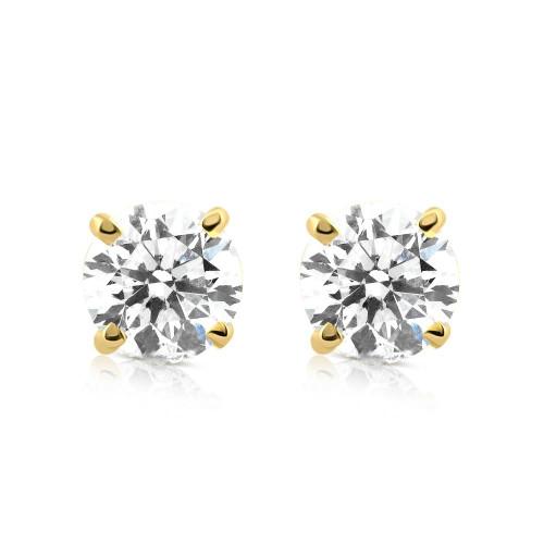 1/5ct Diamond Studs 14K Yellow Gold (J-K, I2-I3)