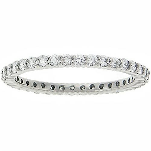 3/4ct Diamond Eternity Ring 14K White Gold (G/H, I1)