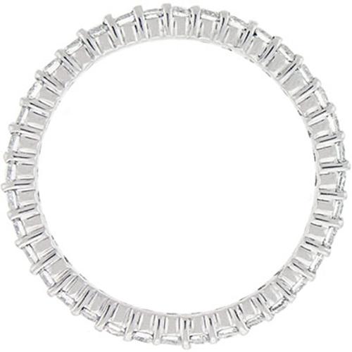 1ct Prong Diamond Eternity Ring 14K White Gold (G/H, SI2)