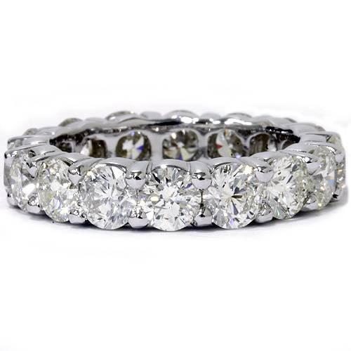 5ct Prong Diamond Eternity Ring 14K White Gold (H/I, I1)