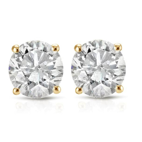 1/3ct Diamond Studs 14K Yellow Gold (G/H, I2-I3)