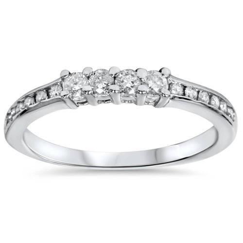 1/3ct Diamond Wedding Ring 14K White Gold (G/H, I2)
