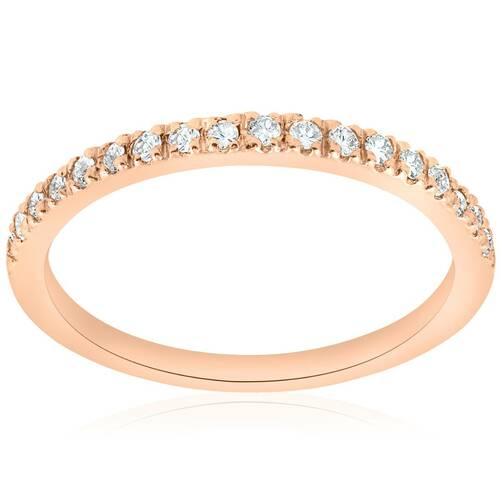 1/4ct Diamond Ring 14K Rose Gold (G/H, I1-I2)