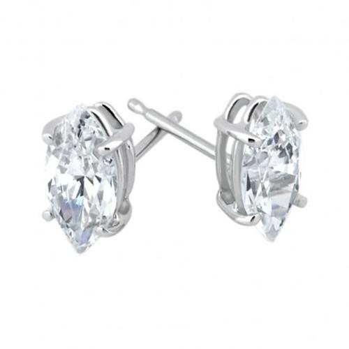 1/2ct Diamond Studs 14K White Gold (G/H, SI)