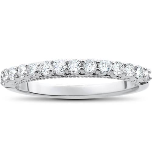 1/2ct Diamond Wedding Ring 14k White Gold (H/I, I1-I2)