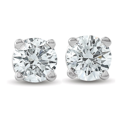 1/3 ctw 14k White Gold Diamond Stud Earrings (G/H, I2-I3)