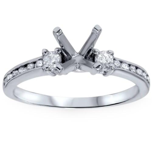 1/3ct Diamond Engagement Ring Semi Mount 14K White Gold (G/H, I1-I2)