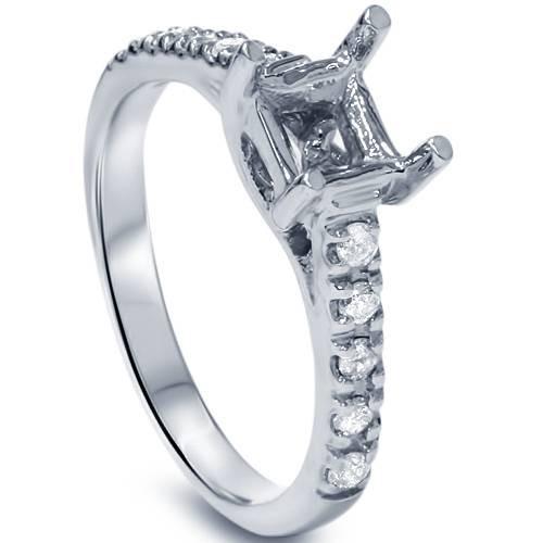 Diamond Semi Mount Engagement Setting Mounting 14K Ring (G/H, I2)