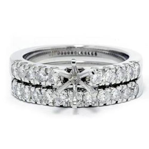 1ct Diamond Engagement Matching Wedding Ring Setting (G/H, I2)