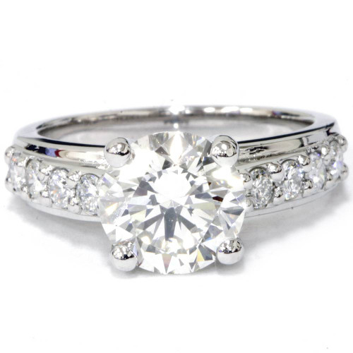 2ct Diamond Engagement Wedding Ring 14K White Gold (G-H, SI(1)-SI(2))