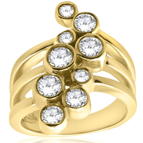 Yellow Gold 1ct Diamond Right Hand Ring (G/H, SI)