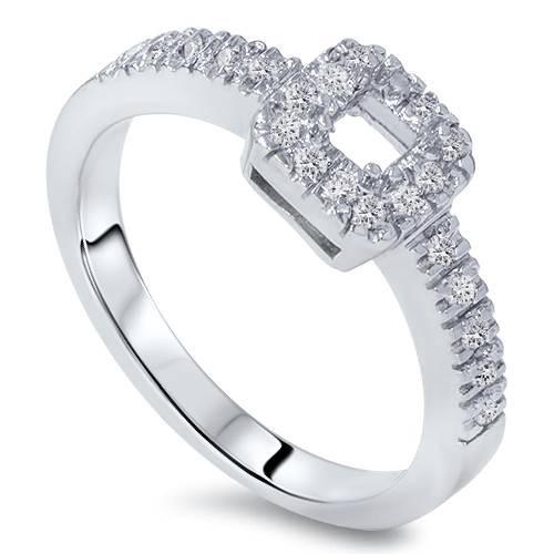 3/8ct Princess Cut Diamond Engagement Ring Setting 14K (G/H, I1)