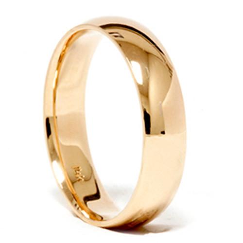 High Polished Classic Wedding Band 14K Yellow Gold