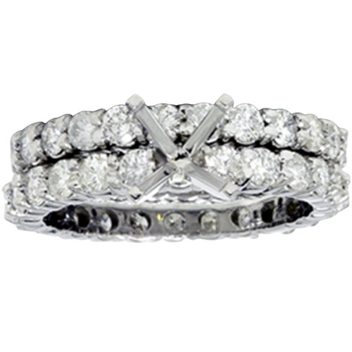 4ct Diamond Eternity Engagement Wedding Ring Setting (G/H, I1)