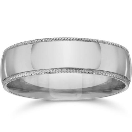 5mm Milgrain Wedding Band 950 Platinum