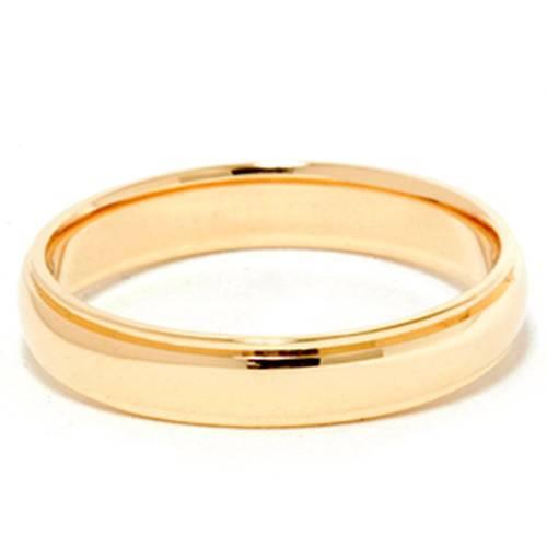 4mm Step Cut Polished Wedding Band 14K Yellow Gold