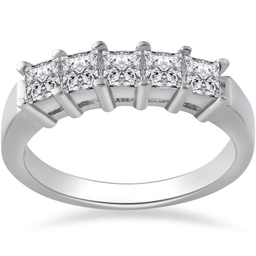 1ct Princess Cut Natural Diamond Wedding Anniversary Ring (G/H, I1)