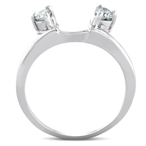 1/4ct Diamond Engagement Ring Wedding Band Enhancer 14K White Gold (G/H, I1)