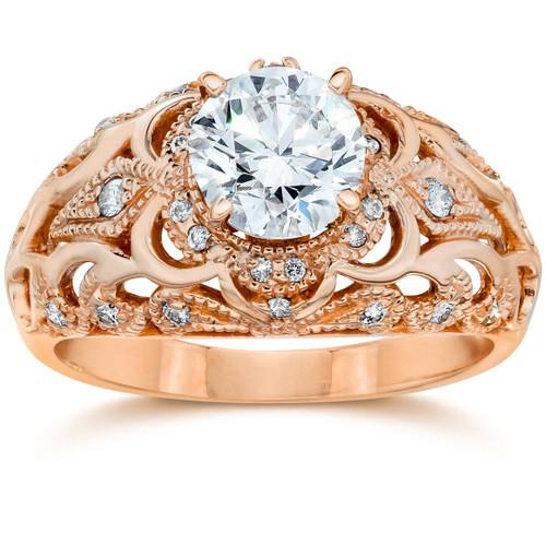 Emery .75Ct Vintage Diamond Antique Engagement 14K Rose Gold (H/I, I1)