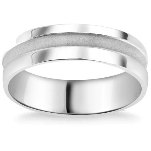 Mens 6mm Comfort Fit Platinum Wedding Band