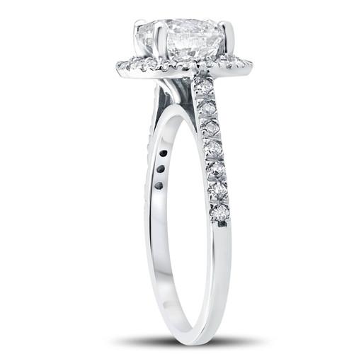 2 1 3 ct Round Round Diamond Halo Engagement Ring 14k White Gold Enhanced  (G H 5c74be36d0