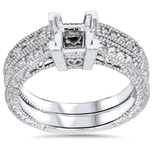 1/4ct Princess Cut Diamond Engagement Ring Setting 14K (G/H, I1)